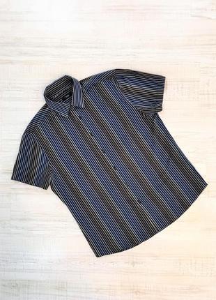 Рубашка полосатая с коротким рукавом летняя мужская классическая thomas, р. m-l