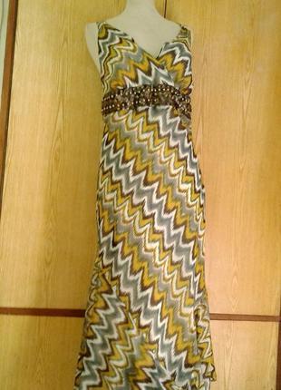 Крепдешиновое платье - сарафан , 3xl.