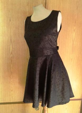 Черное атласное платье,xl.