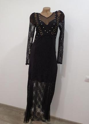 Шикарное гипюрное платье zara