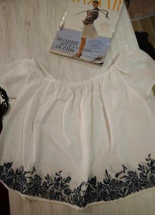 Супер красивая летняя блузка без дефектов крутая модель