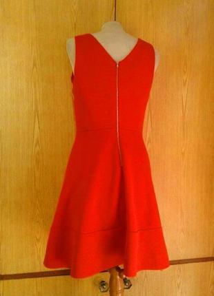 Рыже- красное платье ,l .10 фото
