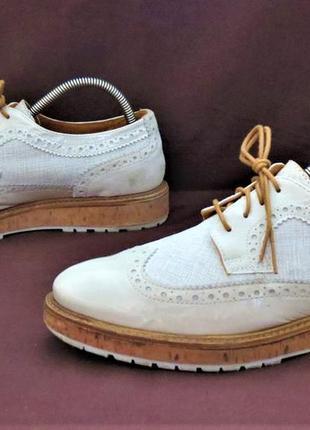Туфли броги дерби 1874 by walder кожа разм. 40 женские