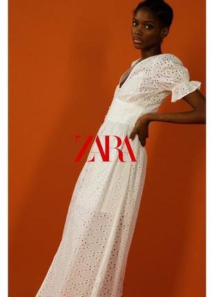 Zara платье кружево прошва , s, m