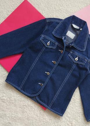 Джинсовая куртка kiabi для девочки 6 лет