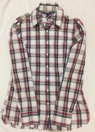 Женская рубашка в клетку tommy hilfiger