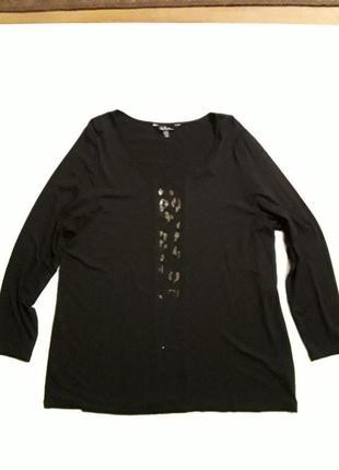 Фирменная трикотажная блузка лонгслив ulla popken