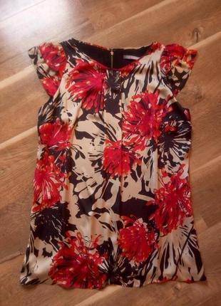 Платье в цветочный принт m&s collection 48 размер