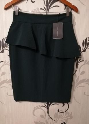 🌿шикарная юбка по фигуре с баской2 фото