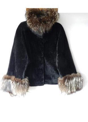 ✅✅ пальто -полушубок с мехом