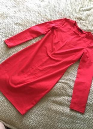 Утягивающее платье красного алого цвета новое