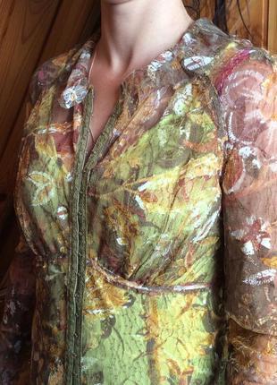 Блуза из стрейч-гипюра