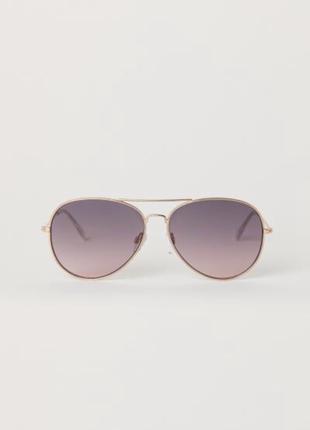 Новые красивые очки солнцезащитные авиаторы