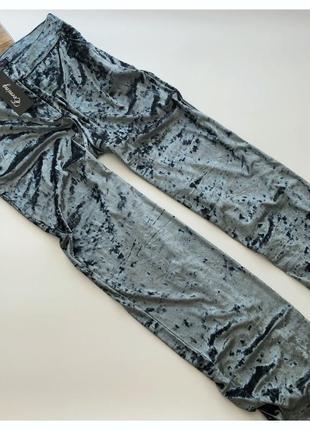 Новые бархатные штаны брюки широкого кроя amisu рр хл