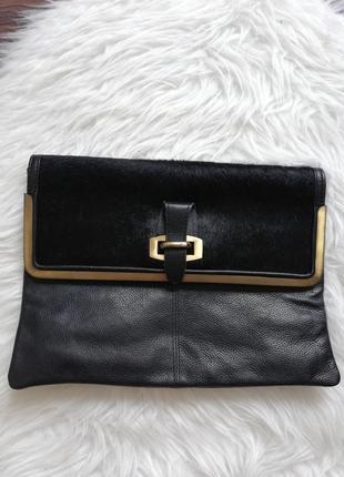 Клатч сумка натуральная кожа topshop