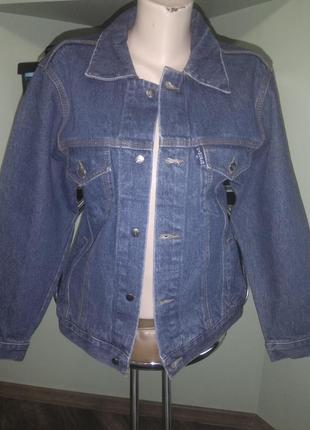 Рэтро джинсовка, джинсовая куртка, оверсайз