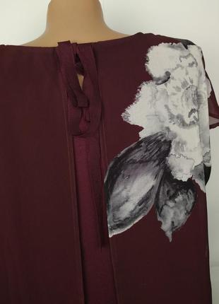 Блуза красивая двухслойная в цветы uk 16/44/xl6 фото