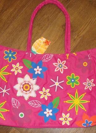 Новая большая яркая пляжная сумка