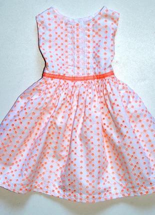 Early days. нарядное платье из ткани вышитой в стиле ришелье. 6-9 мес. рост 74 см
