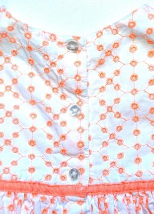 Early days. нарядное платье из ткани вышитой в стиле ришелье. 6-9 мес. рост 74 см7 фото