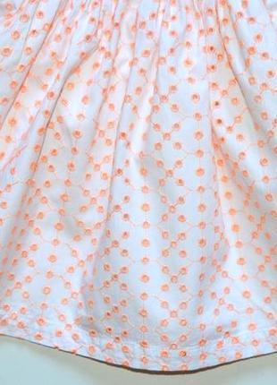 Early days. нарядное платье из ткани вышитой в стиле ришелье. 6-9 мес. рост 74 см3 фото