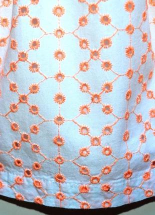 Early days. нарядное платье из ткани вышитой в стиле ришелье. 6-9 мес. рост 74 см4 фото