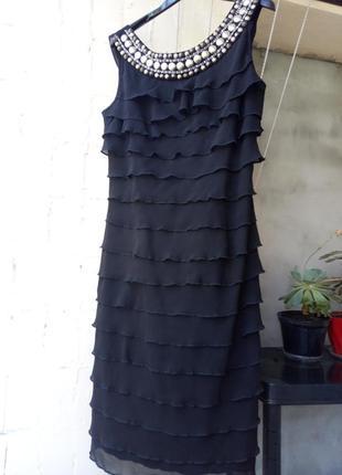 Вечернее черное платье футляр от m&co