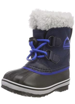 Зимние сапоги sorel 31р оригинал ботинки сноутбутсы