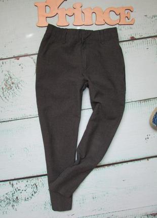 Серые классические зауженные брюки