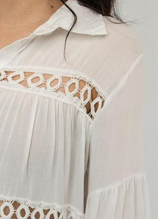 Пляжное платье короткое белое на длинный рукав5 фото