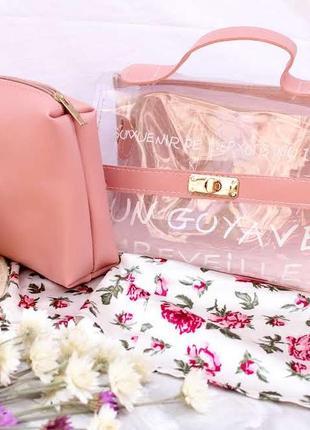 Прозрачная стильная женская сумочка