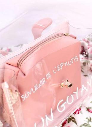 Прозрачная стильная женская сумочка2 фото