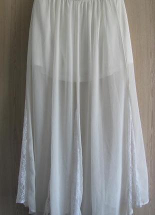 Летняя юбка макси белая шифоновая фирмы crafted (англия)
