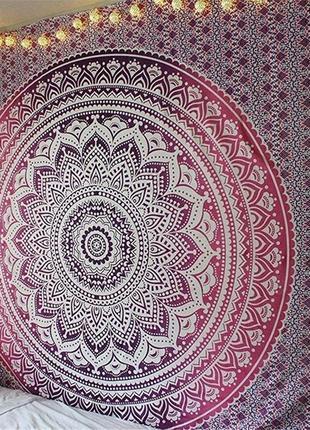 14-88 пляжний килимок подстилка на пляж пляжный коврик яркая мандала настенный гобелен