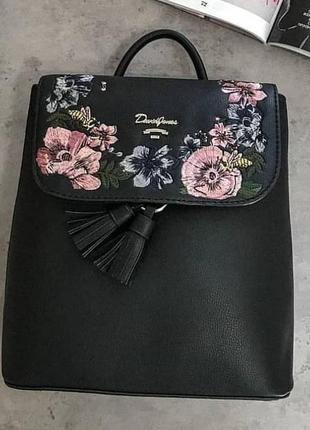Рюкзак с вышивкой david jones 5862 черный