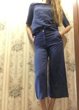 Лянная стильная двойка штаны кюлоты с топом  размер s