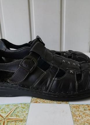 Кожаные сандали, босоножки фирмы rieker