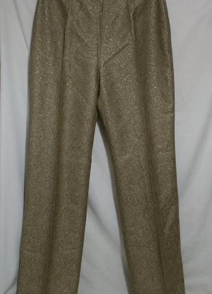 Шикарные брюки из парчи золотистые *pta* 52р большой рост