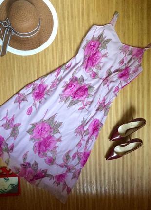 Очень красивый сарафан с розами в бисере,размер xl