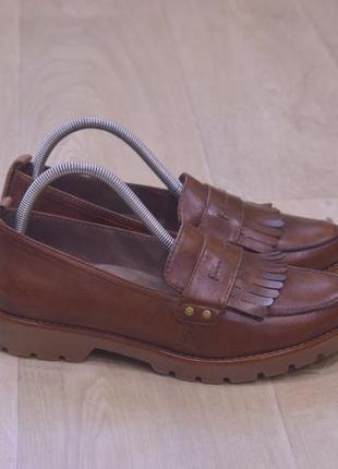 Женские туфли лоферы кожа оригинал весна лето осень