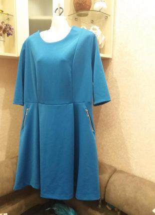 Яркое платье-16\18h  ю133 фото