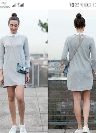 Милое платье с воротником zara