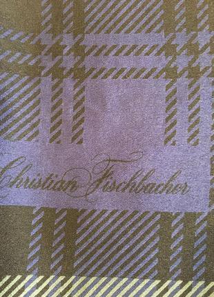 Платок швейцарского бренда шелк christian fischbacher7 фото