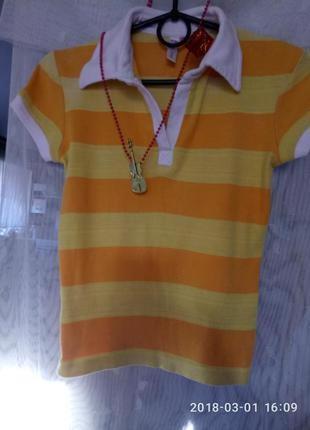 Ha:lu. натуральная брендовая  рубашка футболка поло тенниска унисекс