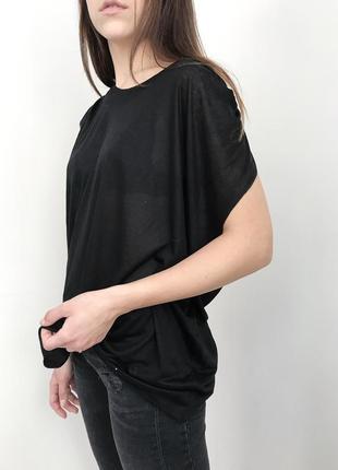 Новая чёрная футболка, свободная футболка полупрозрачная, нова чорна футболка
