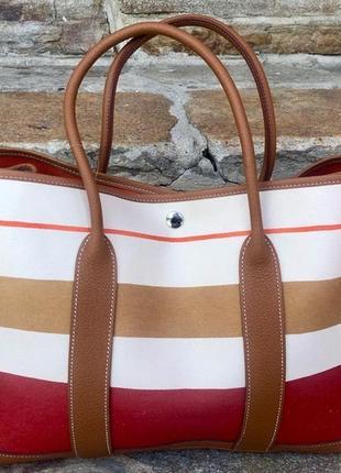 Hermes tote garden party сумка, францiя