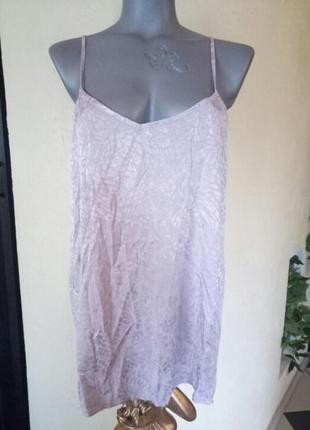 Пудровая майка,топ,блуза из шелковистой вискозы,батал