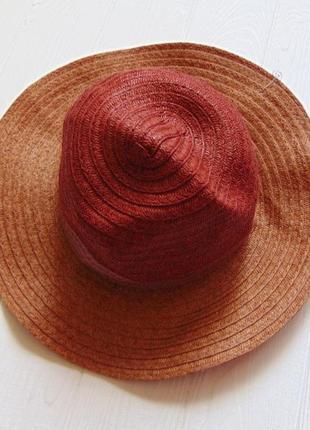Кiabi. размер на объем головы 50 см. новая соломенная шляпа для девочки