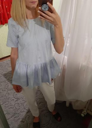 Актуальная хлопковая блуза от zara
