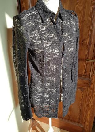 Ажурная кружевная рубашка sisley